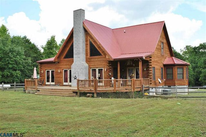 Log homes for sale for Colonial log homes